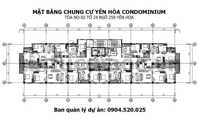Mặt bằng Chung cư Yên Hòa Condominium ngõ 259 Yên Hòa