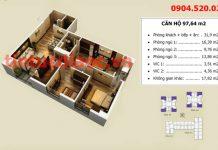 Căn 97m2 tòa V1 và V4 Chung cư Home City