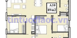 Căn 89m2 tòa A Chung cư 283 Khương Trung