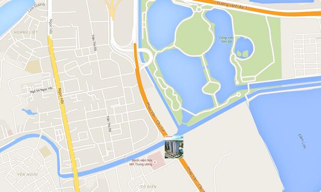Vị trí Chung cư Tứ Hiệp Plaza