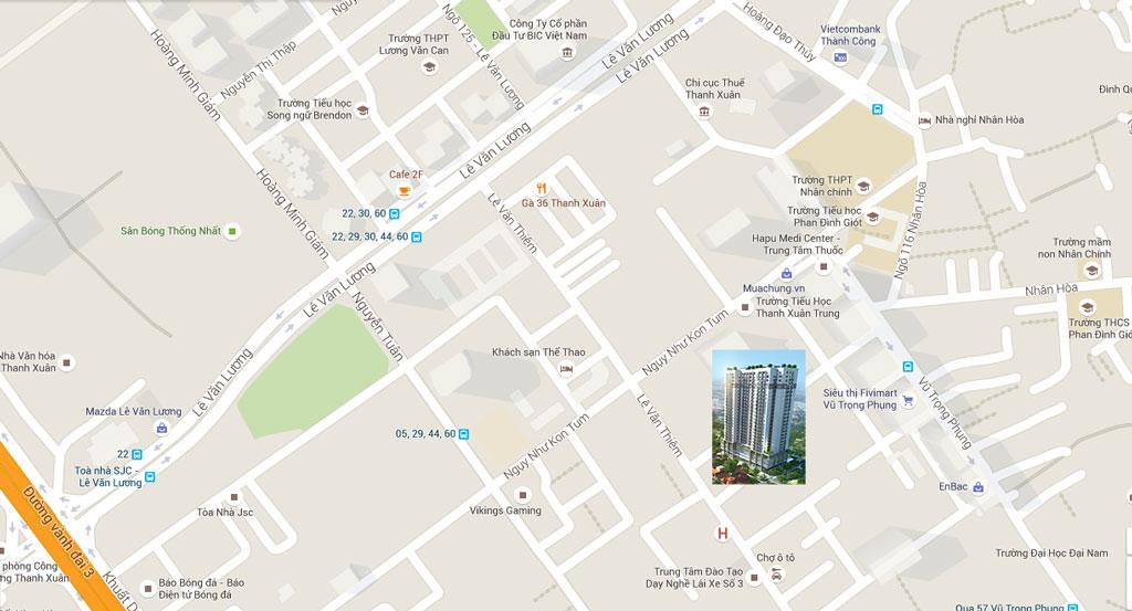 Vị trí Chung cư Thanh Xuân Complex - Hapulico 24T3