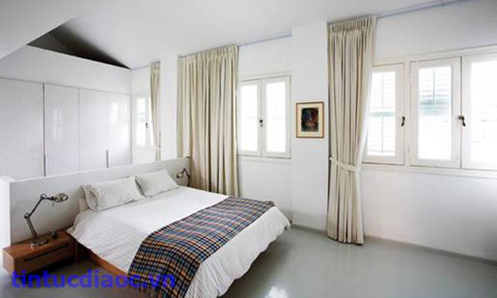 Thiết kế Phòng ngủ Trần nhà thấp