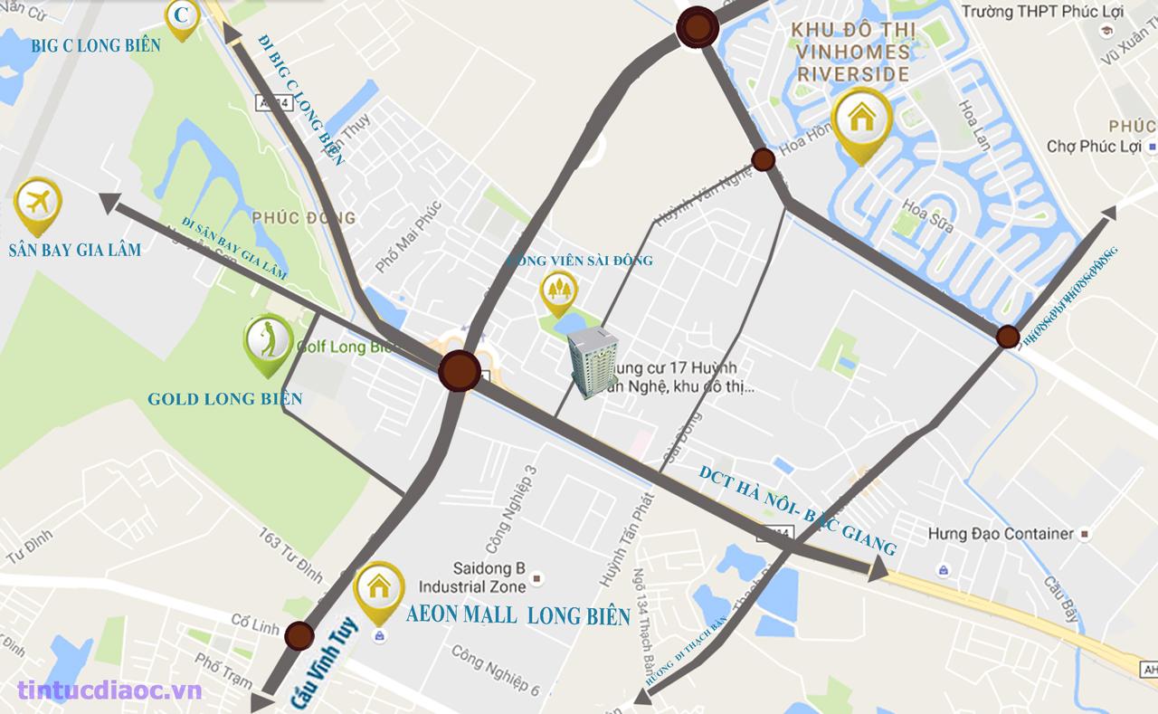 Vị trí Chung cư Sài Đồng City