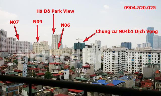 VỊ trí Chung cư N04b1 Dịch Vọng