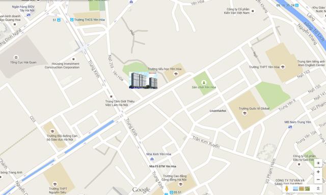 Vị trí Chung cư Yên Hòa Condominium ngõ 259 Yên Hòa