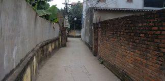 Đường vào đất thổ cư 53m2 phường Tây Mỗ
