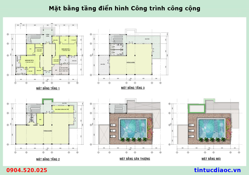 Mặt bằng tầng điển hình công trình công cộng Liền kề 671 Hoàng Hoa Thám