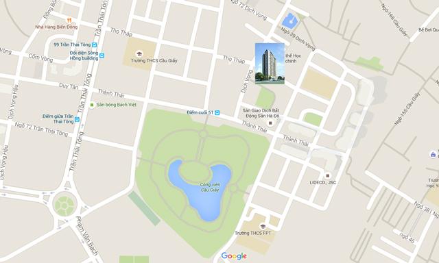 Vị trí Chung cư CC1 Hà Đô Park Side