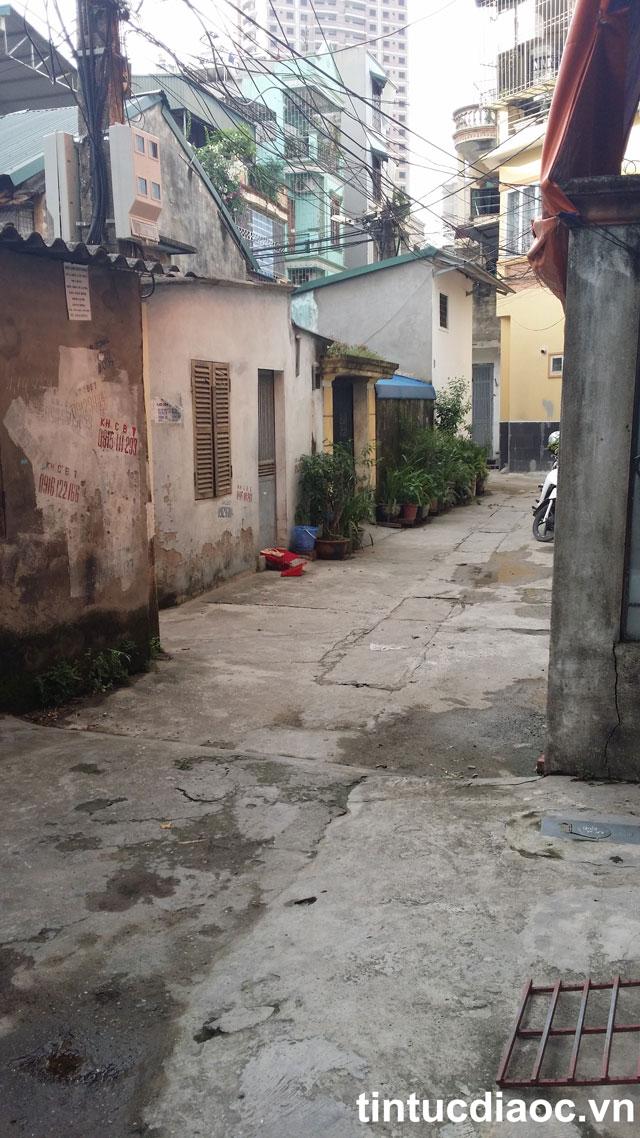 Ngõ vào nhà phố Tân Mai quận Hoàng Mai