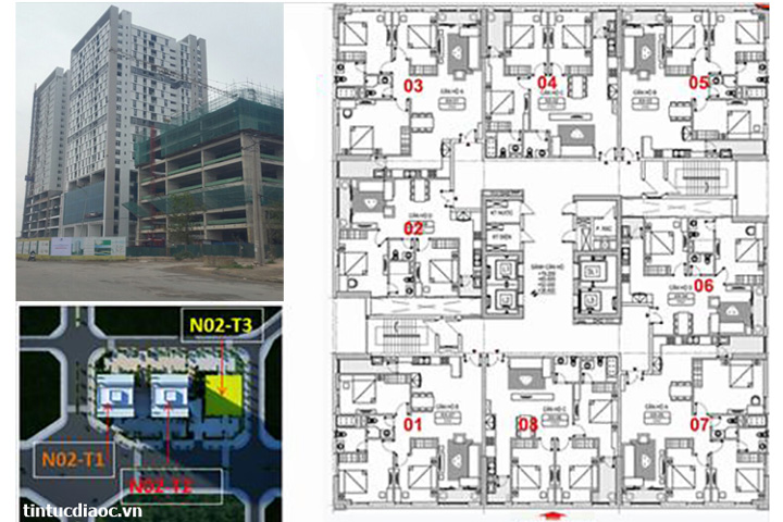 Thiết kế tòa N02T2 Chung cư Ngoại giao đoàn