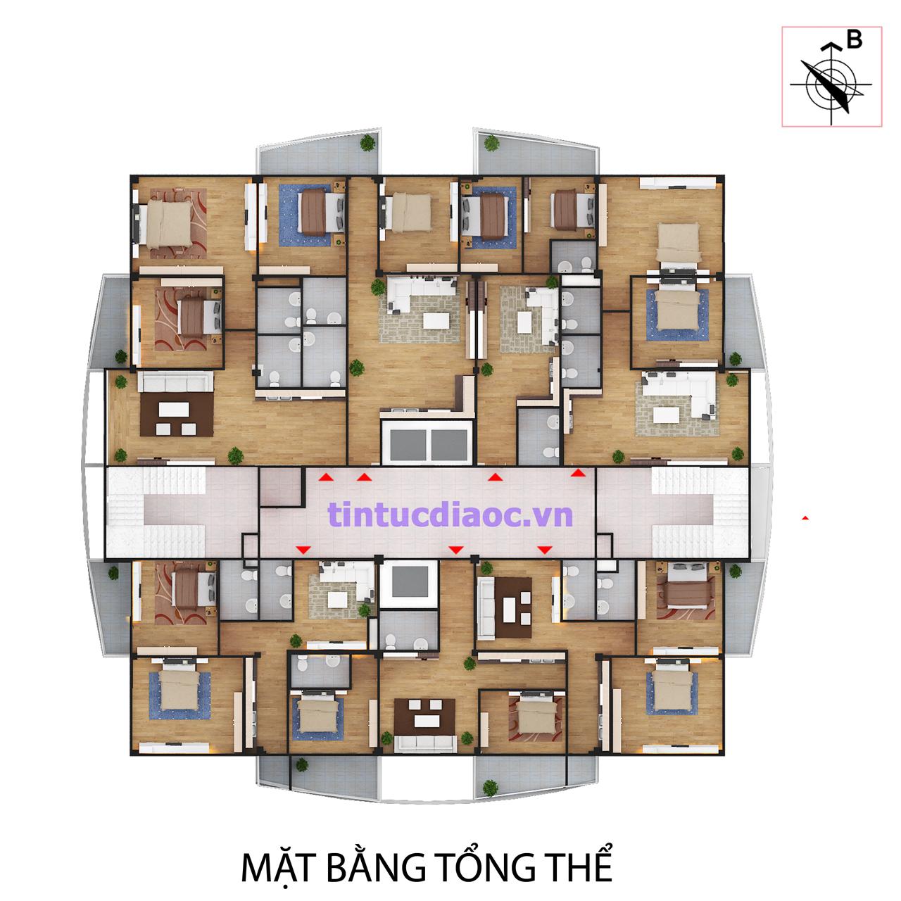 Mặt bằng Chung cư Sài Đồng City Long Biên