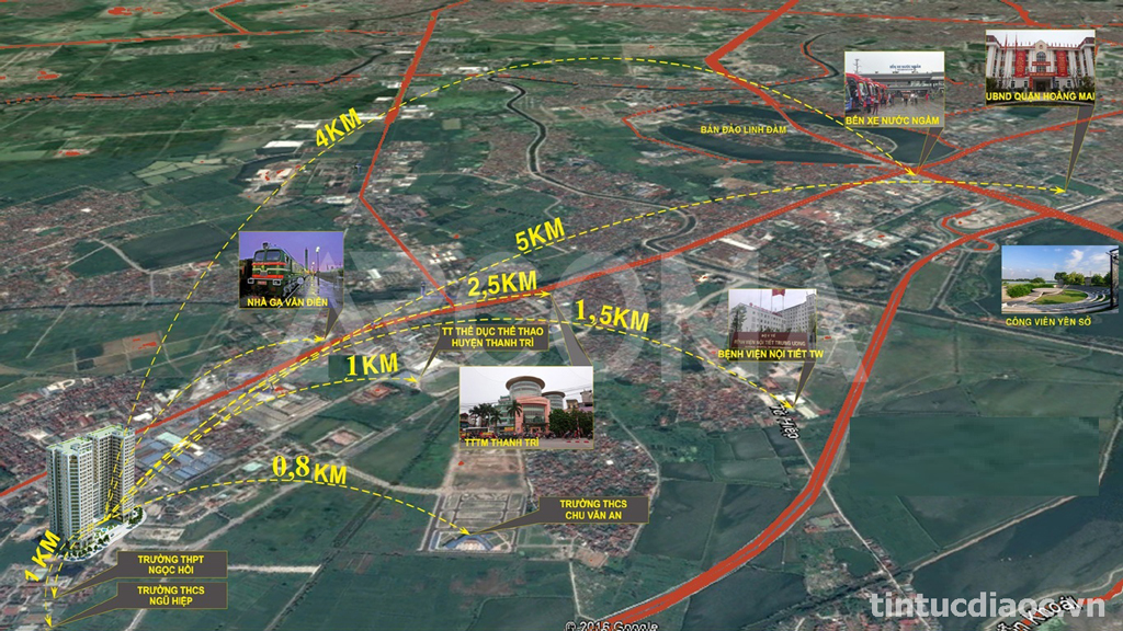 Vị trí Chung cư Tecco Complex Tứ Hiệp Thanh Trì
